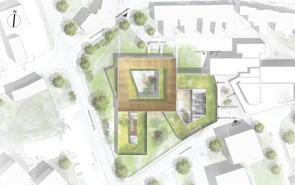 Stavy architectes erp construction d 39 un ehpad la for Plan masse architecture