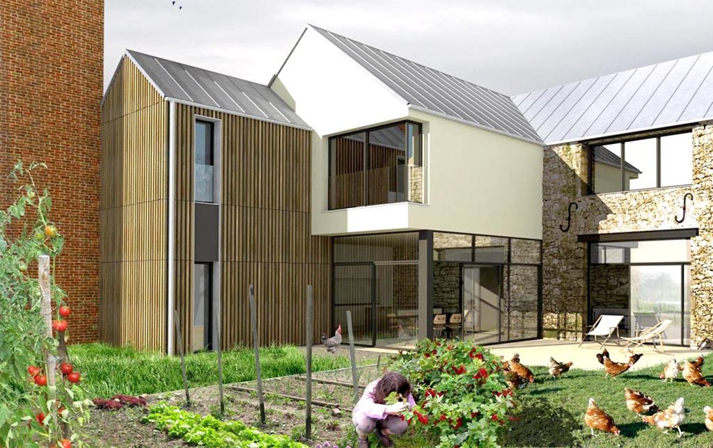 Stavy architectes paris logements maison la ferme for Architecte renovation ferme